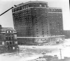 The Biltmore Hotel in downtown Providence at the height of the storm. The Blue Hill Observatory is hosting a commemorative event on the Hurricane of 1938 on Sept. 21. Click here for details