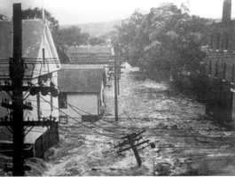 Flooding of the Ware River in Ware was severe, far surpassing the Spring Flood of 1936. The Blue Hill Observatory is hosting a commemorative event on the Hurricane of 1938 on Sept. 21. Click here for details