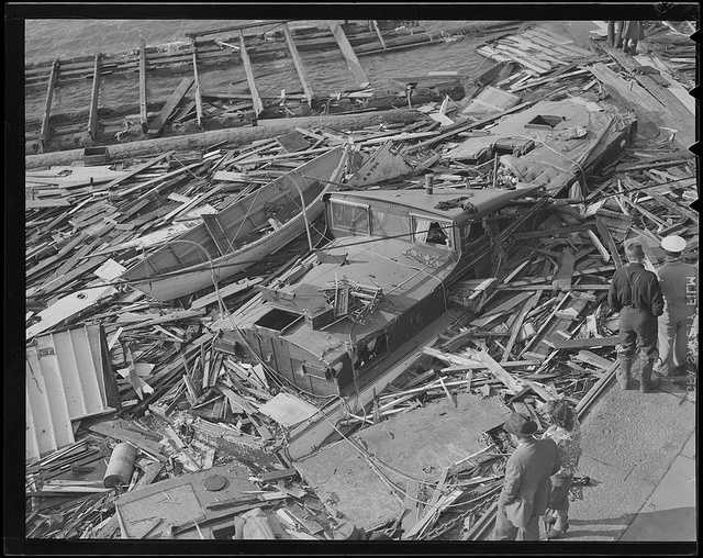 Another view of what remained of several boats.