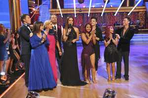 The cast at the end of the first episode of the 17 Season of Dancing With The Stars. (Photo by: ABC/Adam Taylor)