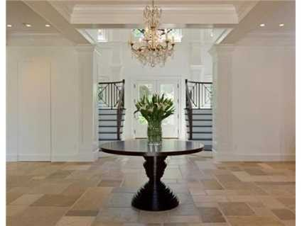 The formal entryway.