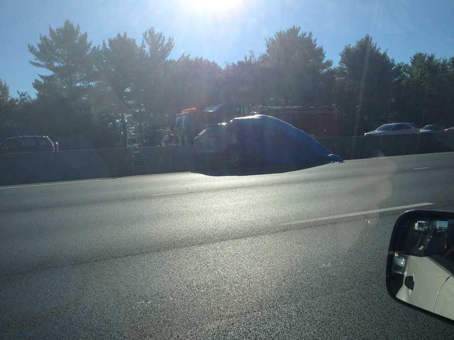 A serious multi-car crash snarled traffic on I-93 in Hooksett Wednesday morning.