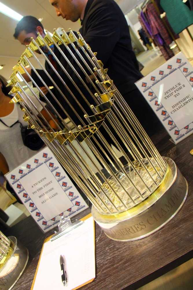 The event, which prominently featured the team's two most recent World Series trophies, also included a live auction with one-of-a-kind items donated by the players and their wives.