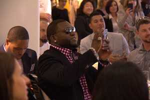 """David Ortiz, known by most of us as """"Big Papi"""" was in attendance withTiffany Ortiz."""