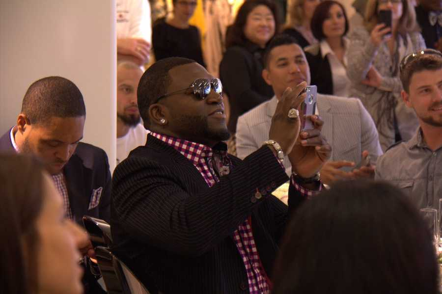 "David Ortiz, known by most of us as ""Big Papi"" was in attendance with Tiffany Ortiz."