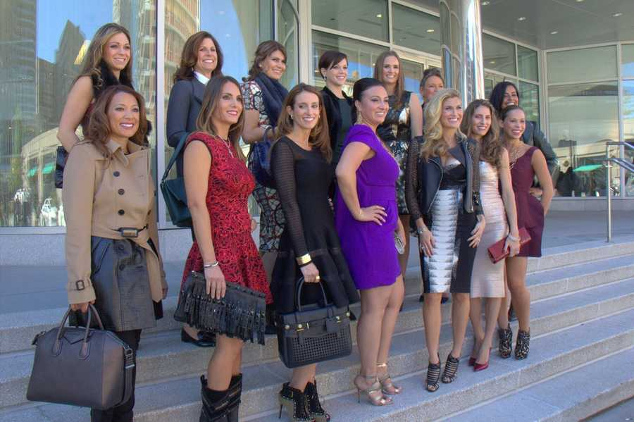 The Boston Red Sox wives hit the fashion runway at Saks Fifth Avenue in the Prudential Center Wednesday.
