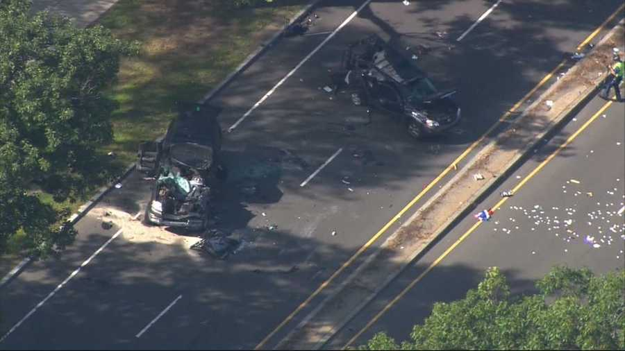Six people were injured in a high-speed crash in Jamaica Plain on Sept. 6. An 18-year-old driver was later charged.