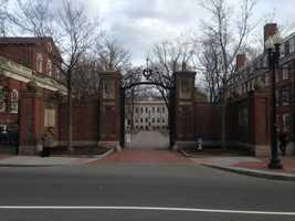 1)Harvard University in Cambridge
