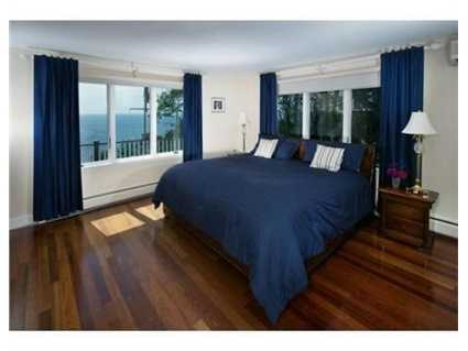 One of the guest rooms has a Murphy bed.