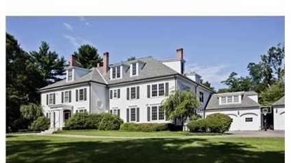 40 The Ledges Road is on the market in Newton for $6.5 million.