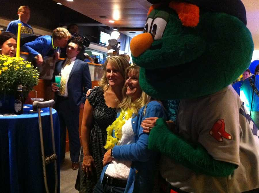 Sdoia with Wally the Green Monster