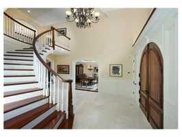 The magnificent colonial sits on more than 3 acres of land.