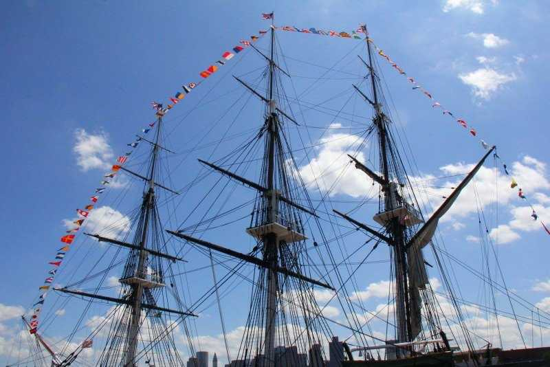 The USS Constitution in the Charlestown Navy Yard is closed.