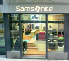 Samsonite, whose headquarters are in Mansfield, was named after the Biblicalstrongman Samson and began using the trademark Samsonite in 1941.