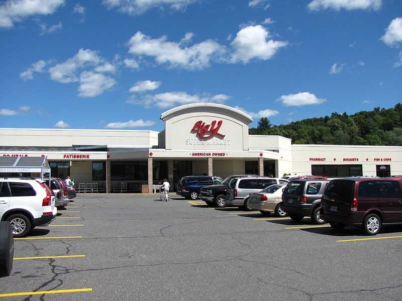 """Big Y Supermarket got its name because the original store was at an intersection where two roads converged at a """"Y."""""""