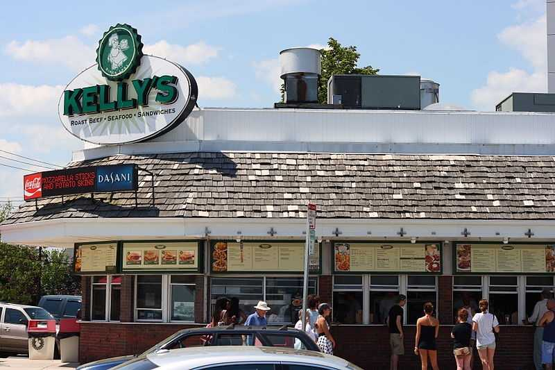 Kelly's Roast Beef was founded in 1951 by two partners, Frank V. McCarthy and Raymond Carey. Neither partner wanted to be the namesake of the restaurant, so they decided to name it after a mutual friend, Thomas Kelly, a florist from Dorchester.
