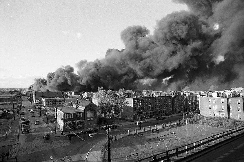 """""""Buildings were literally exploding into flames by radiation and convection. Efforts to save the buildings ablaze were fruitless, everything now was concentrated on containing the fire,"""" according to the website account."""