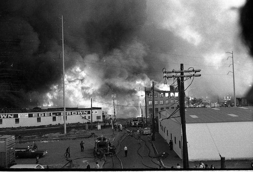 Over 300 buildings burned.