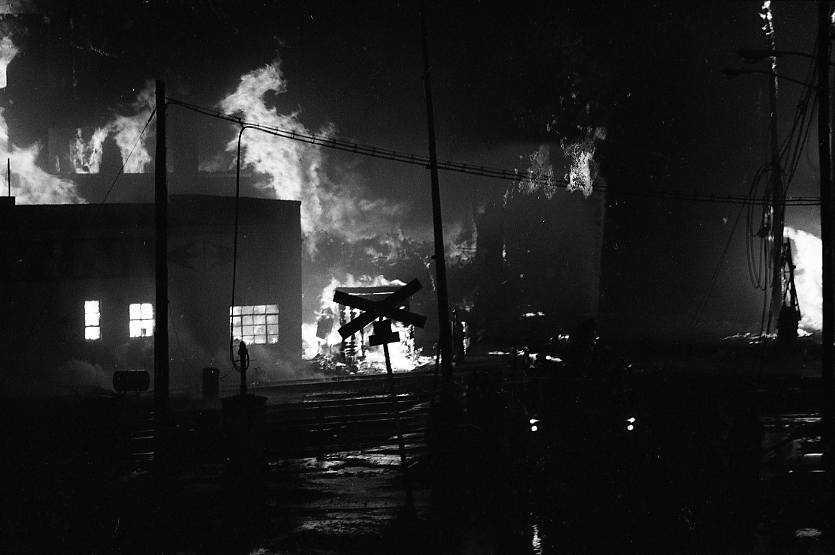 18 city blocks burned to the ground.