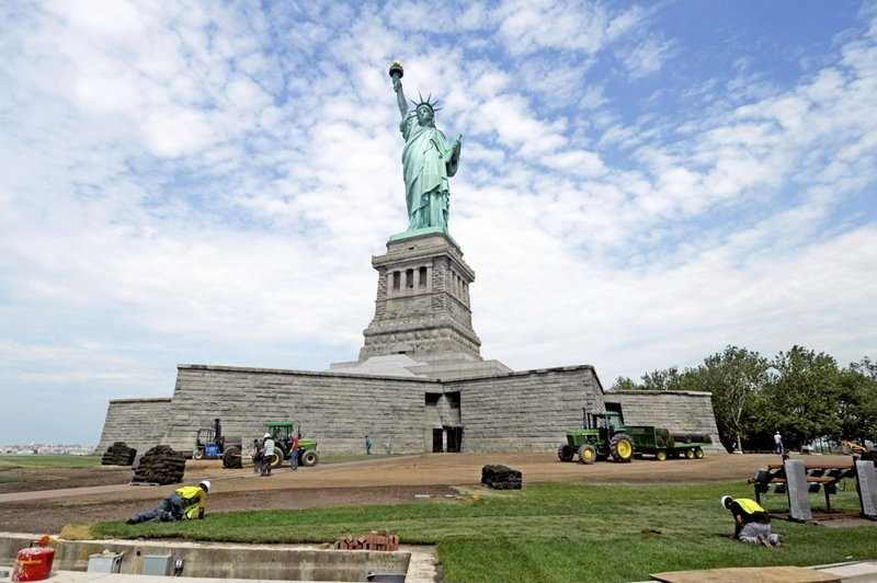 The Statue of Liberty in New York will be off limits.