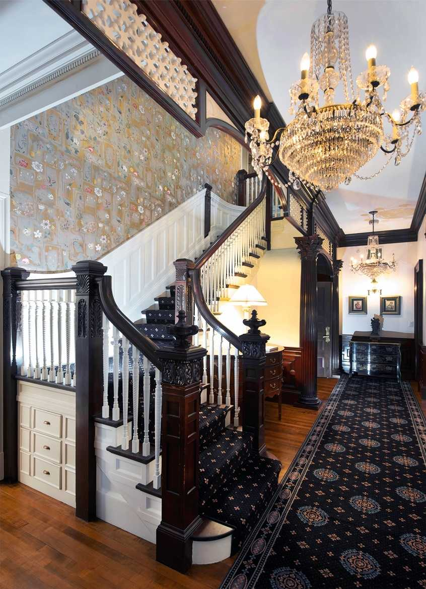 The homeowners undertook an extensive two-year renovation project, restoring and preserving original woodwork.
