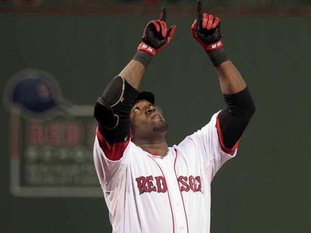 When Ortiz crosses the plate after hitting a home run, he looks and points up as a tribute to his mother Angela Rosa Arias, who died in a car crash in Jan. 2002 at the age of 46. Ortiz also has a tattoo of his mother on his biceps.