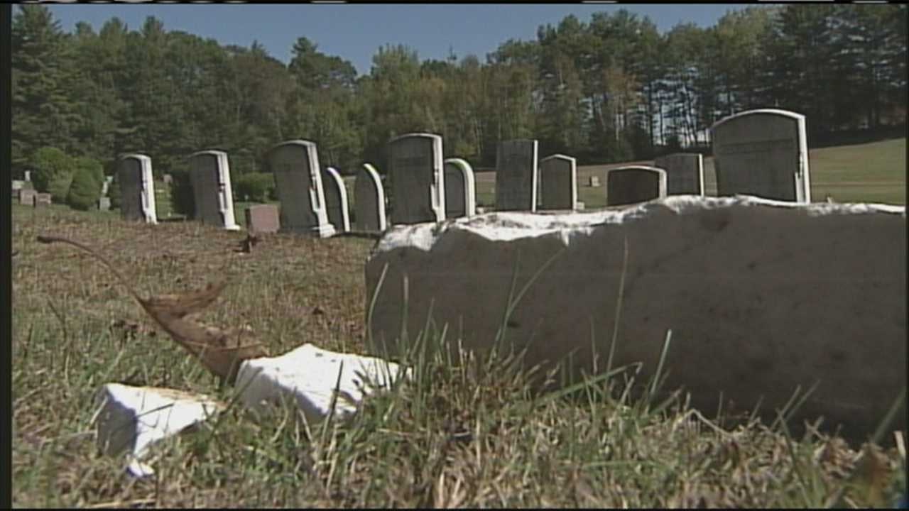 Monmouth cemetery damage