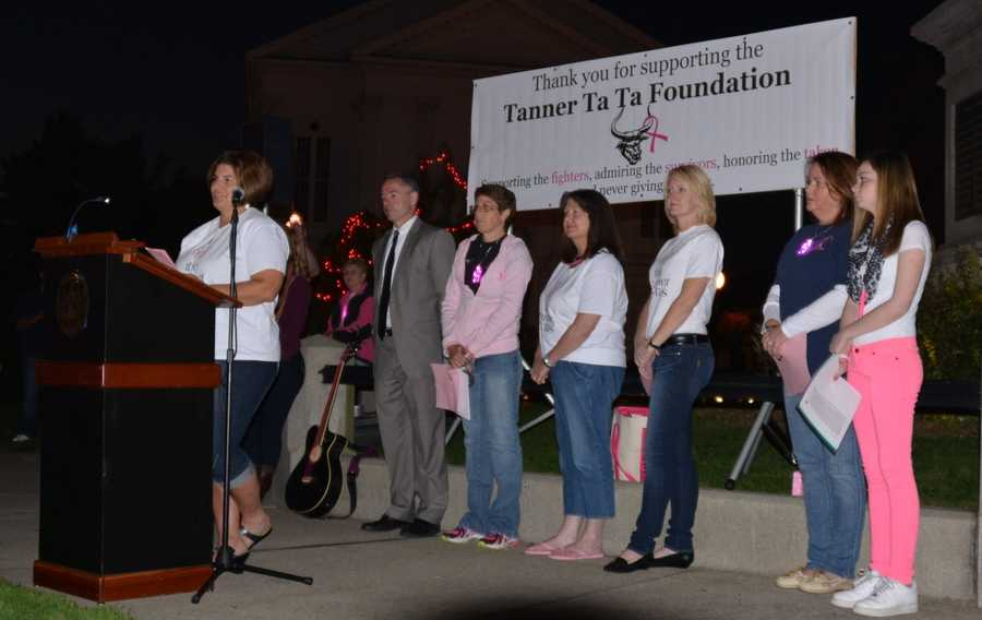 The Tanner Ta Ta Foundation was part of a ceremony outside city hall Tuesday night.