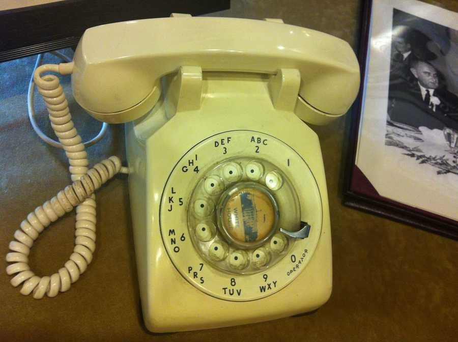 The last phone President John F. Kennedy used at a hotel in Forth Worth the night before he flew to Dallas. It had a direct line to the White House.