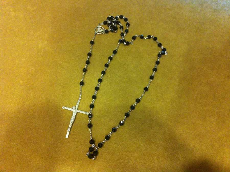 John F. Kennedy's rosary beads that were later given to his best friend, Dave Powers.