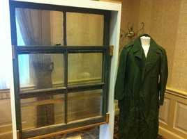 Oswald's Marines-issued overcoat