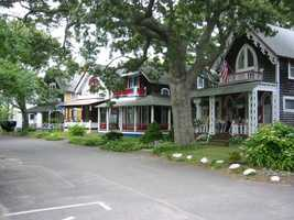 #18 (tie) The town of Oak Bluffs was first settled in 1642, it was incorporated in 1880