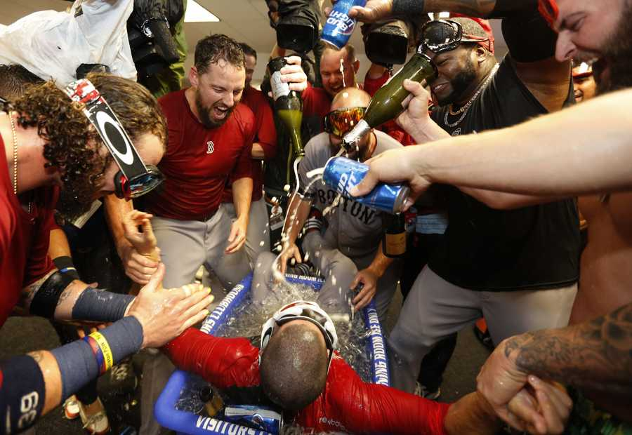 The Boston Red Sox's defeated the Tampa Bay Rays 3-1 to move on to the American League Championship Series.