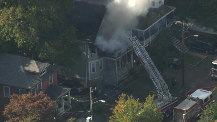 The fire broke out at the home on Eliot Street.