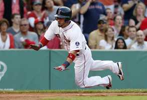 Victorino signed a 3 year, $39 million contract with the Boston Red Sox in Dec. 2012.