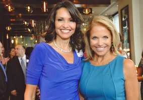 Liz with daytime talk show host Katie Couric