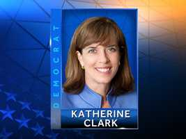 Democrat Katherine Clarkcurrently serves as the Massachusetts state senator representing Malden, Melrose, Reading, Stoneham, Wakefield and Winchester. She was first elected in March 2008 to the Massachusetts House of Representatives. Website:http://www.katherineclarkforcongress.com/