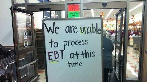 A sign at the Market Basket in West Bridgewater, Mass.