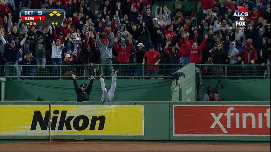"""This image of Steve Horgan, a 50-year-old native of South Walpole, Mass., and a 27-year veteran of the Boston Police force, has already become an iconic symbol of the 2013 Boston Red Sox.""""I couldn't even hear myself it was so loud,"""" Horgan told ESPN. """"I can't believe it. I don't know what to think. I can't believe it. It was an awesome feeling."""""""