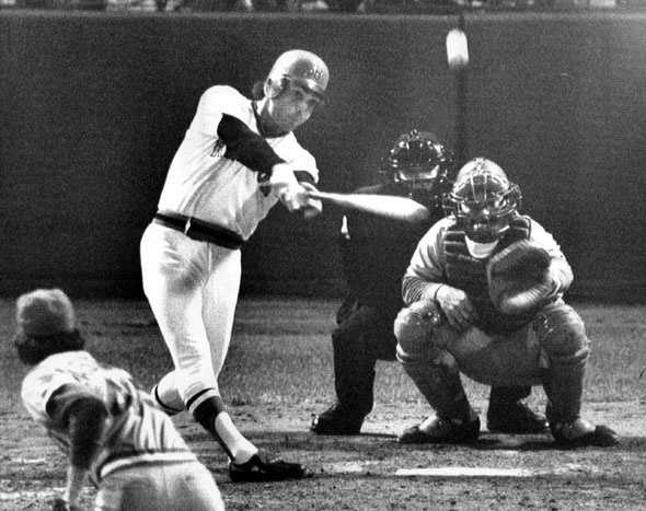 """""""Mr. Clutch""""Bernie Carbo hit the greatest pinch-hit home run in Red Sox history. Boston was four outs from elimination against the Cincinnati Reds in Game 6 of the 1975 World Series, when Carbo came off the bench to hit a three-run home run, tying the score at 6-6, and paving the way for Carlton's Fisk immortal home run later in the game."""