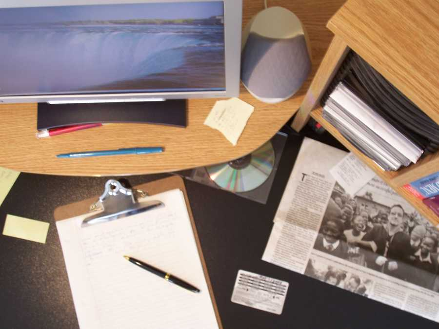 You want your space to look worked in -- and not too cluttered. It's a balancing act.