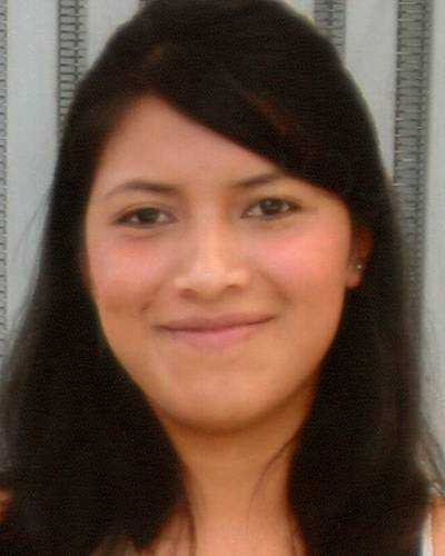 "Name: Doris LopezCase type: Endangered RunawayDOB: Nov. 22, 1994Age Now: 18Missing Date: Sept. 5, 2011Missing From: Southbridge, MASex: FemaleRace: HispanicHair color: BlackEye color: BrownHeight: 5'0""Weight: 107 lbsShe may still be in the local area or she may travel to Virginia. Doris has blonde and red highlights in her hair and her naval is pierced. She may use the alias name Ana Maria Mendez Vasquez."