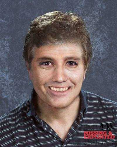 "Name: Andy PuglisiCase type: Non family abductionDOB: Sept. 2, 1965Age Now: 48Missing Date: Aug. 21, 1976Missing From: Lawrence, MASex: MaleRace: WhiteHair color: BrownEye color: BrownHeight: 4'0""Weight: 65 lbsAngelo's photo is shown aged to 45 years. He was last seen swimming at a public pool about 100 yards from his home. He has 3 scars along his spine and a discoloration on his chest. His nickname is Andy. FOUL PLAY SUSPECTED."