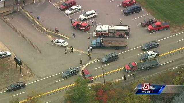 Emergency crews are responding to a serious crash in Plainville.