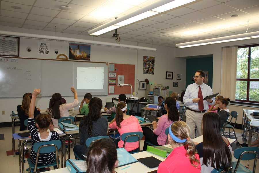 Students at the Weston Middle School participated in earthquake preparedness training Thursday.