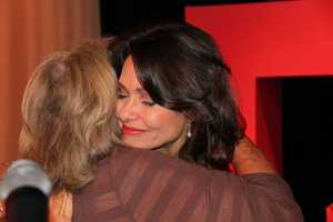 A parting hug from Susan Wornick