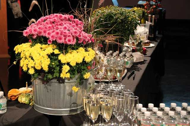 Fall flowers were the theme as the WCVB-TV staff gathered Thursday to say goodbye to NewsCenter 5 anchor Liz Brunner