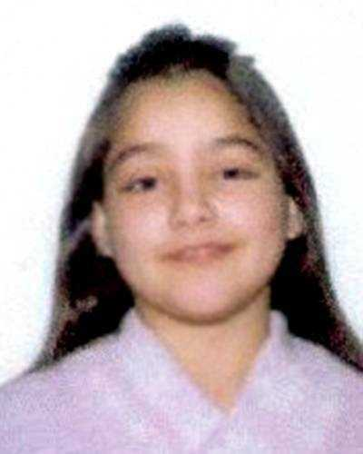 This is a photo of Soomaiiah Quraiishi when she disappeared in 2001. On the next slide, you will see what she might look like now.