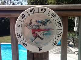 What's the most likely month to have temperatures above 100 degrees?