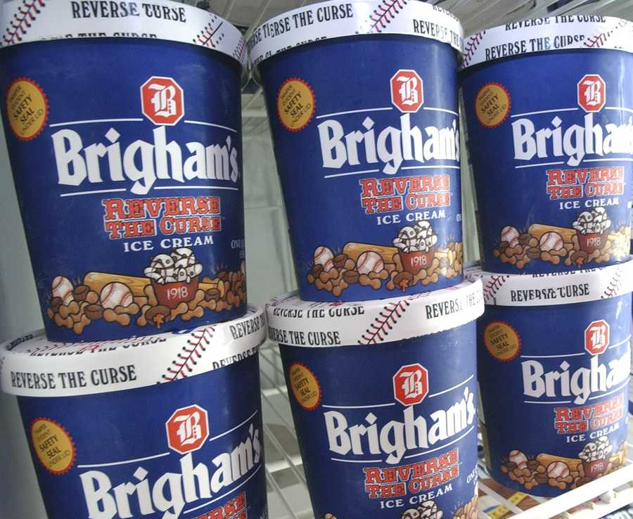 """Brigham's """"Reverse the Curse"""" ice cream is shown in Boston Wednesday, Oct. 29. 2004. Since the Boston Red Sox won the 2004 World Series, the flavor is obsolete."""